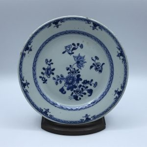 18th Century Chinese Porcelain Plate Blue And White Qianlong