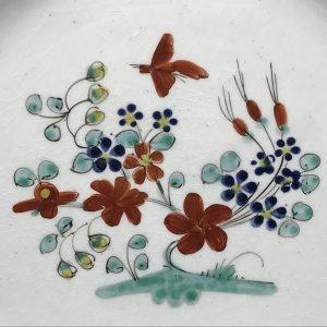 18th Century Creamware Plate Hand Painted circa 1780