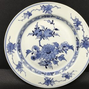 18th Century Chinese Porcelain Blue & White Plate Qianlong Period