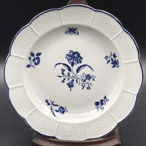 18th Century First Period Worcester Porcelain  Plate Circa 1765