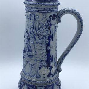 Very Large Antique German Salt Glaze Ewer Jug S.P Gerz 19th Century