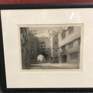 1931 Etching/Engraving of St Johns Gate Clerkenwell by Kenneth Hobson
