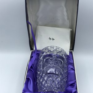 Limited Edition Watford Hand Cut Crystal Silver Jubilee Vase Boxed