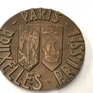 1963 Paris Brussels Bruxelles Bronze Medal for the SNCF Railway Line