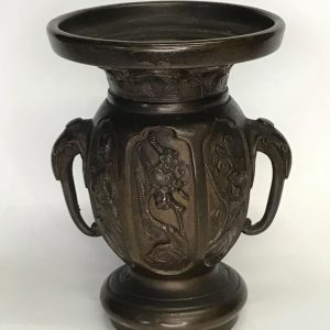 19th Century Oriental Japanese Bronze Vase.