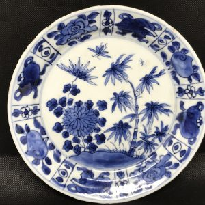 Chinese Kangxi Period (1662-1722) Blue & White Porcelain Plate / Dish