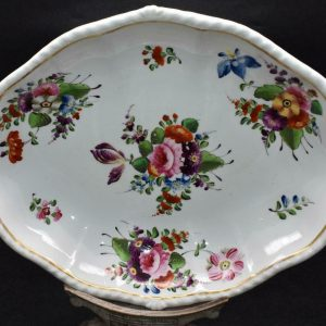 Large 19th Century Antique Derby Hand Painted Porcelain Dish Circa 1820 (1)