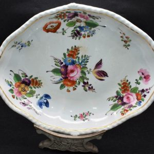 Large 19th Century Antique Derby Hand Painted Porcelain Dish Circa 1820 (2)