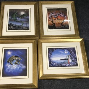 Set Four Limited Edition Print Lunar Dragon Pracownik