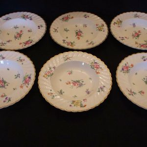 Set Six Clarice Cliff Newport Pottery Plates