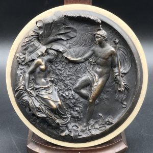 19th Century Bronze Plaque Neo-Classical E W Wyon Signed and Dated 1848