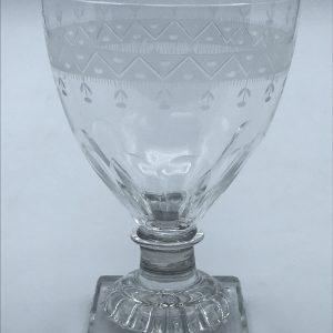 Antique English Georgian Drinking Glass Rummer Lemon Squeezer Foot (2)