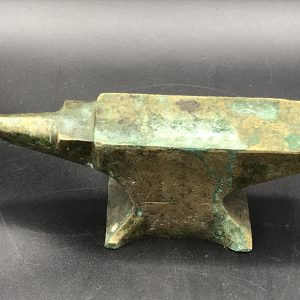 Antique Heavy Solid Brass Jewellers or Watchmakers Anvil