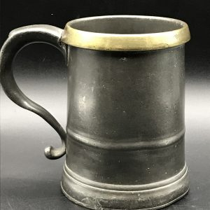19th Century Antique Pewter Quart Tankard Victorian