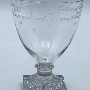 Antique English Georgian Glass Rummer Lemon Squeezer Foot (1)