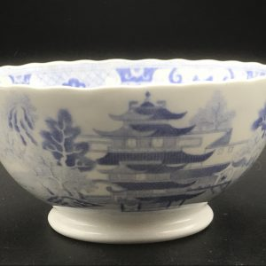 Early 19th Century Miles Mason Porcelain Bowl Two Temples