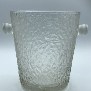 Mid Century Scandinavian Textured Glass Champagne / Ice Bucket
