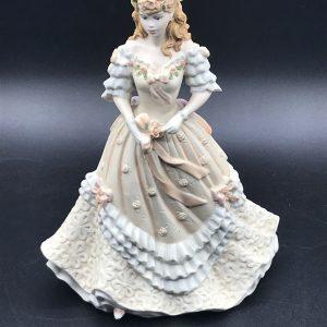 Coalport Porcelain Figurine Age of Elegance Easter Bonnet 1993