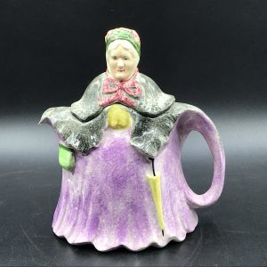 English Little Old Lady Teapot By H J Wood 1930s