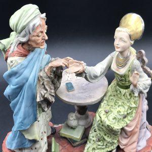 Italian Figurine Capodimonte Fortune Teller Storyteller