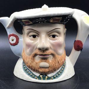 James Sadler Teapot Henry VIII  Character Toby Jug