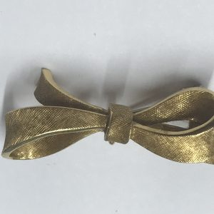 Vintage 18ct Yellow Gold Bow Brooch
