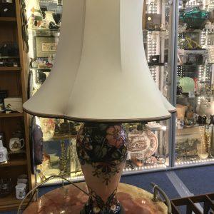 Large Moorcroft Pottery Tubelined Lamp Honeysuckle Pattern