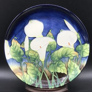 Old Tupton Ware Tubelined Charger / Plate English Ceramics Calla Lily