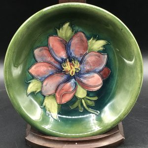 Walter Moorcroft Tubelined Pottery Dish Clematis
