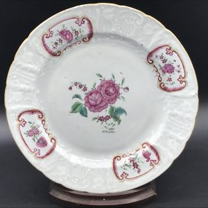 18th Century Chinese Export Porcelain Plate Qianlong Period