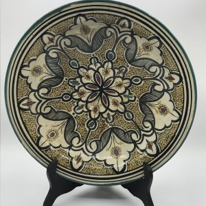 Antique Moroccan Pottery Large Bowl Asafi Safi Ceramics