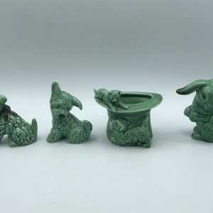 Group Vintage Sylvac English Pottery Animals Dogs Rabbits and Cat
