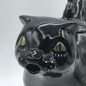 1970s Carlton Ware Black Cat Teapot Retro Kitsch