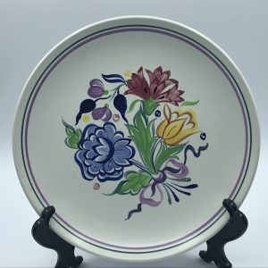 1970s Hand Painted English Poole Pottery Plate