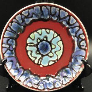 1970s Vintage Retro English Poole Pottery Plate