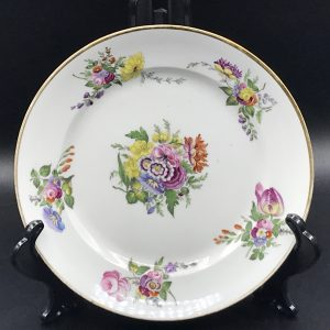 19th Century Antique Swansea Floral Hand Painted Cabinet Plate C.1815