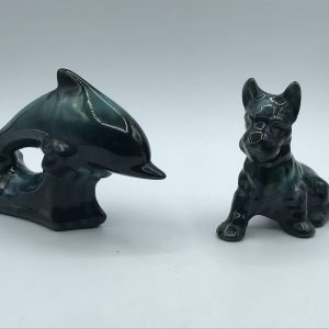 Blue Mountain Pottery Canada Terrier and Dolphin