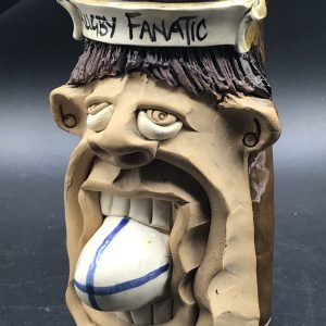 Collectable Rugby Fanatic Studio Pottery Tankard Mug