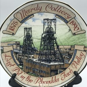 Fine China Plate Mardy Colliery 1875 – 1990 Welsh Coal Mine