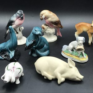 Group Collectable Pottery & Porcelain Animals