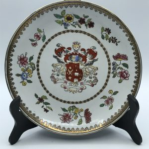 Heavy Hand Painted Samson Porcelain Armorial Crested Plate