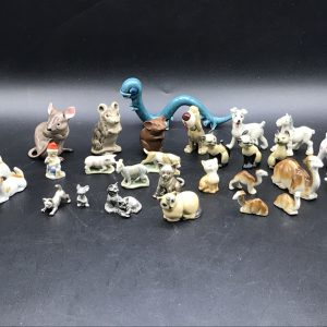 Large Collectable Small Animals Porcelain And Pewter
