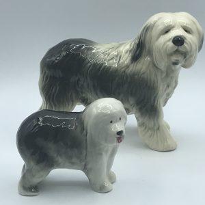 Two English Ceramic Sheepdog Dulux Dog Coopercrafts & Melrose