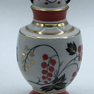 USSR Lomonosov Porcelain Tea caddy Jar hand painted circa 1970s