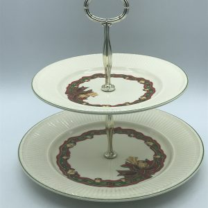 Wedgwood Queens Ware Christmas Time Cake Stand Plate