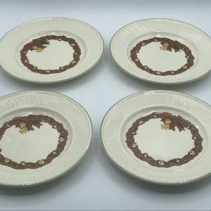 Wedgwood Queens Ware Christmas Time Cups Saucers and Tea Plates