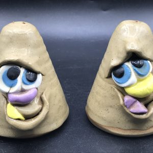 Welsh Novelty Cruet Set Pretty Ugly Pottery