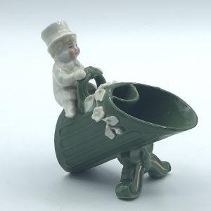 Antique German Porcelain Fairing Conta & Boehme Mr Top Hat