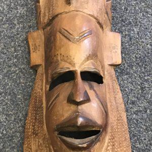 Vintage Hand Carved African Wood Mask