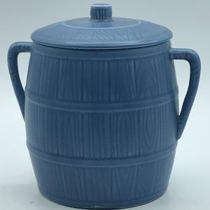 English Sylvac Pottery Biscuit Barrel 1446 in Blue